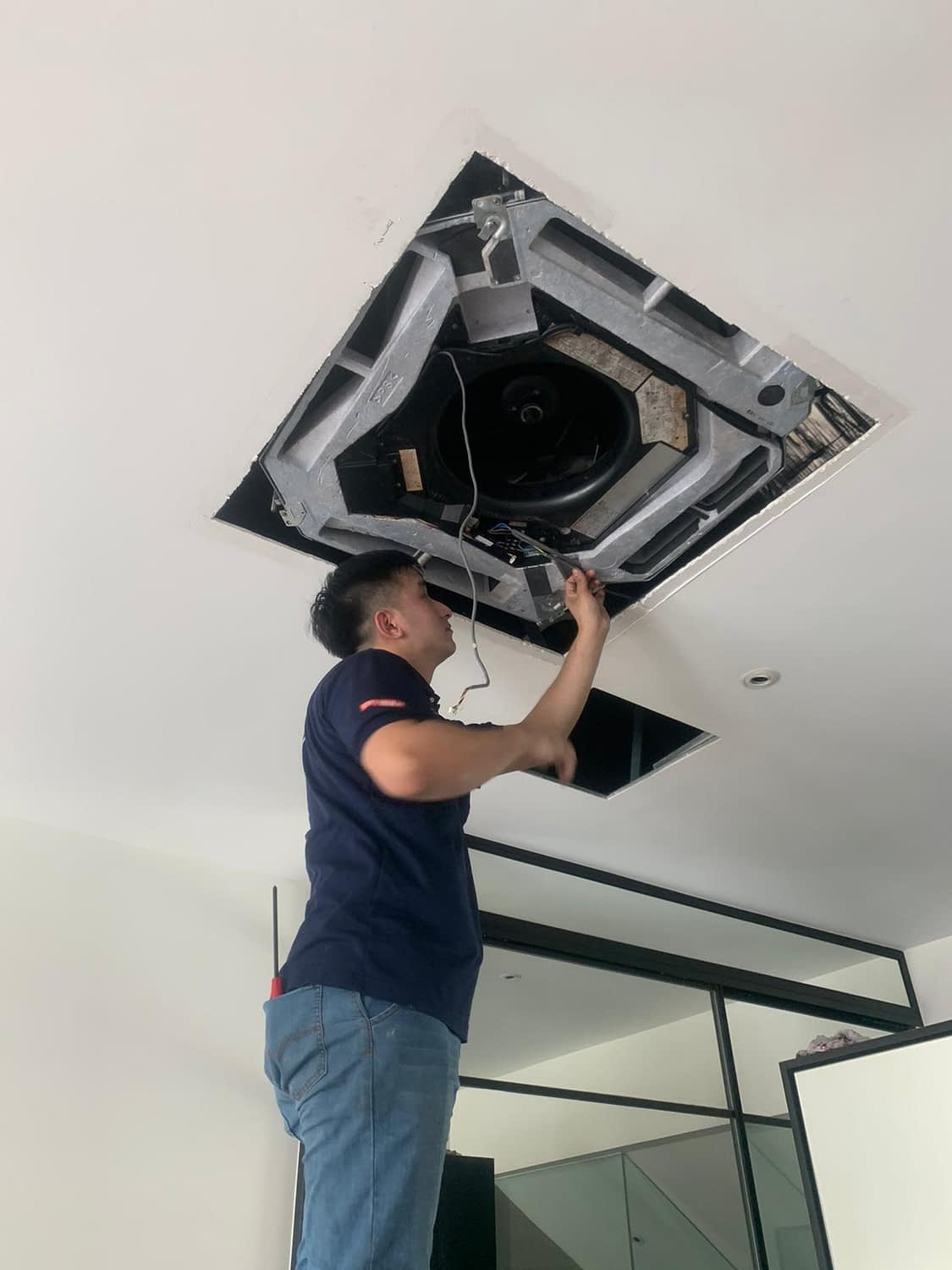 ceiling cassette chemical wash