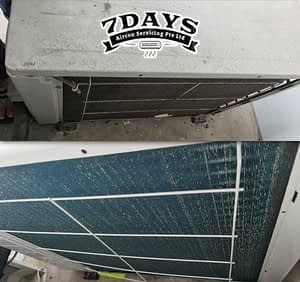 aircon chemical wash outdoor condenser